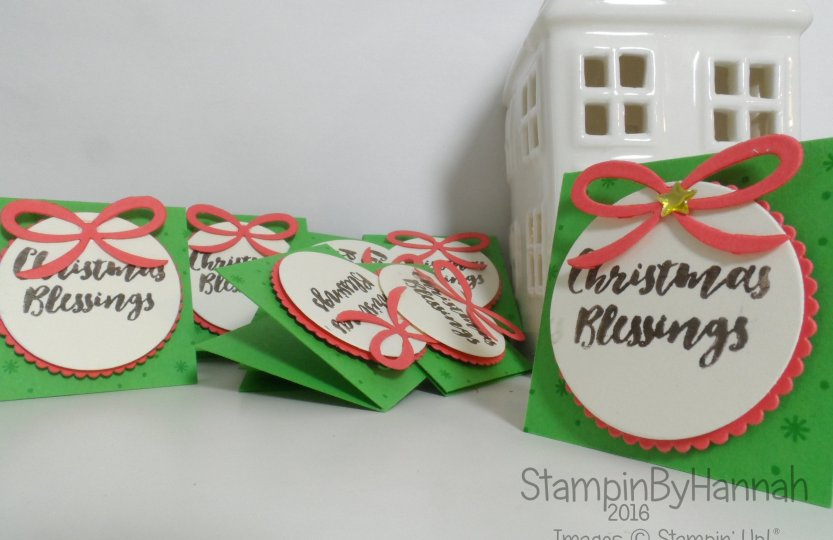 12 Days of Christmas Quick and Easy Gift tags using Christmas Pines from Stampin' Up! UK