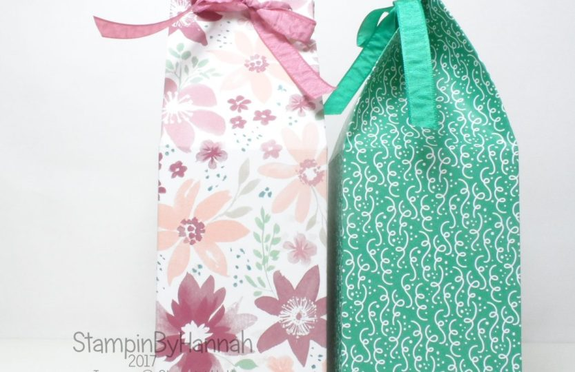 3D Friday Giant Milk Carton Video Tutorial using Designer Series Paper from Stampin' Up!