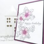 Fabulous Floral Birthday Card inspired by Michelle Last using Birthday Blossoms from Stampin' Up!