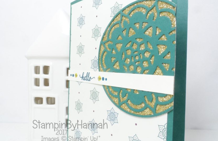 Cute Hello card using Eastern Beauty from Stampin' Up!