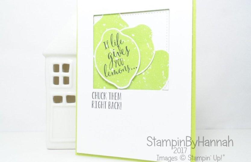 Stampin' Up! 2017 In Colour Lemon Lime Twist Lemon Zest Fun Lemon Card