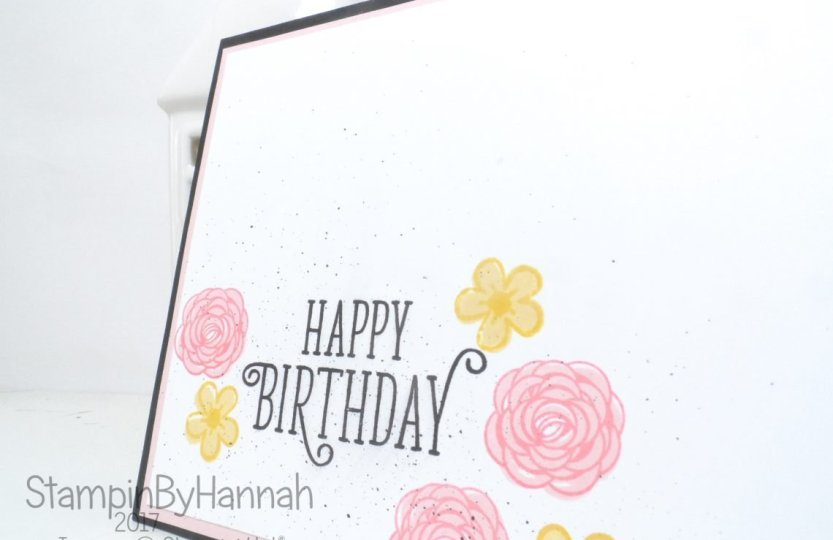 Simple hand stamped Birthday card using Happy Birthday Gorgeous from Stampin' Up!
