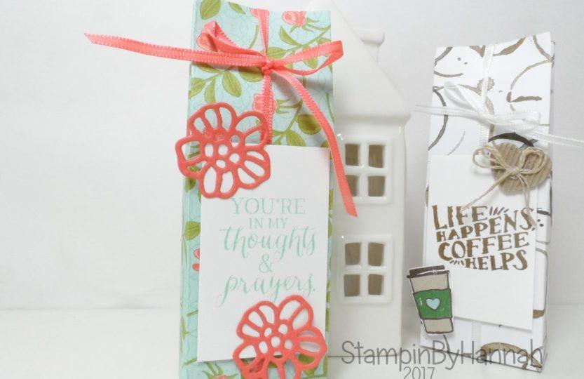 Make It Monday Pootles Papercraft Yankee Candle Gift Bag using Petal Garden Designer Series Paper from Stampin' Up!