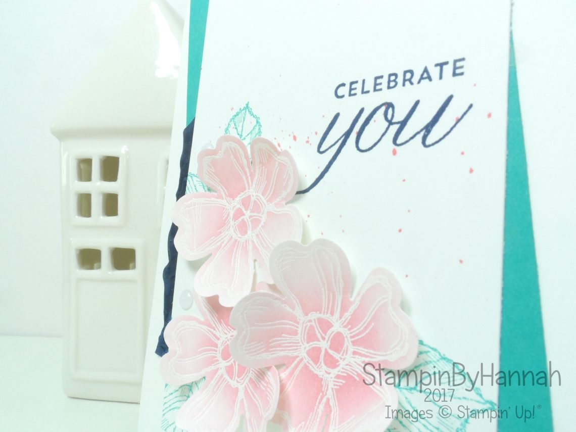 Modern Floral Congratulations Card using Birthday Blossoms from Stampin' Up! for the Global Design Project