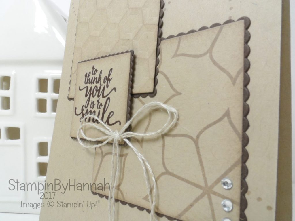 Simply Sketched Saturday Challenge Friend Card using Eastern Palace from Stampin' Up!