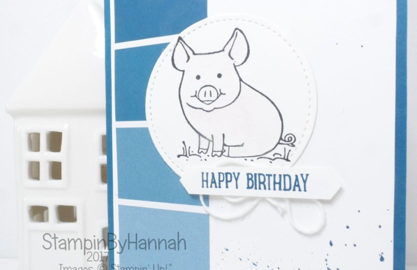Men's Birthday Card Using This Little Piggy from Stampin' Up!