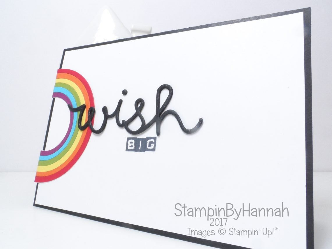 Rainbow Wish Big Card using Stampin' Up! products