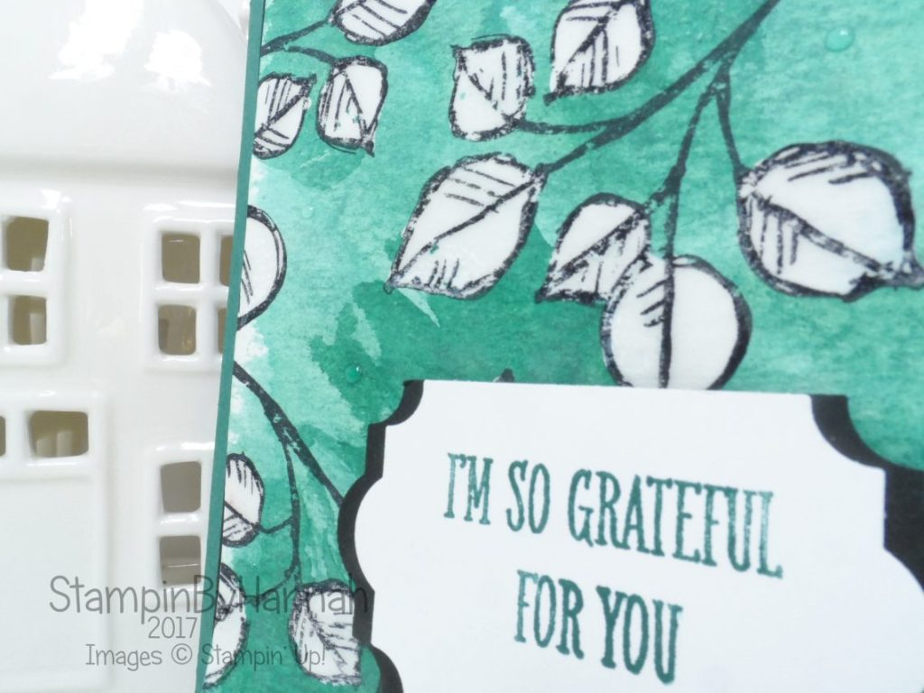 Thank you card using Remarkably You from Stampin' Up!