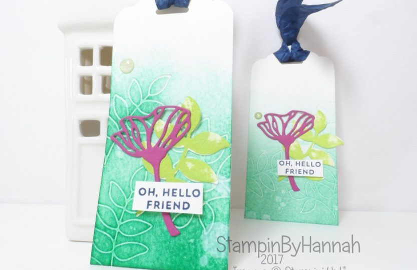 Make It Monday Fun watercoloured tags using Oh So Eclectic from Stampin' Up!