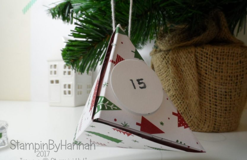 Christmas Countdown How to make an origami advent calendar using Stampin' Up! Designer Series Paper