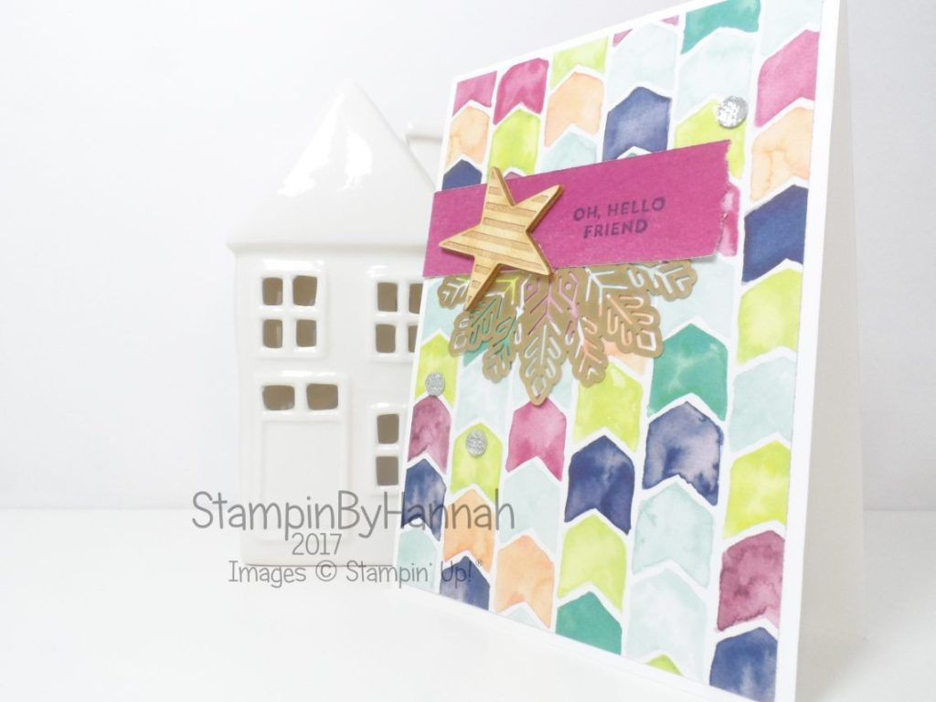 Fun Just Because card how to use Patterned Paper in card making video tutorial using Oh So Eclectic from Stampin' Up!