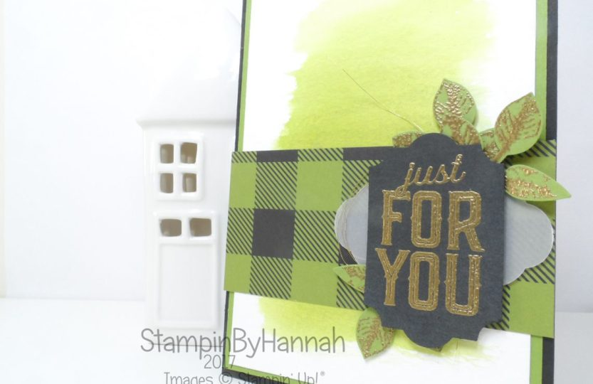 Global Design Project Just For You Watercolour Card using Merry Little Christmas from Stampin' Up!
