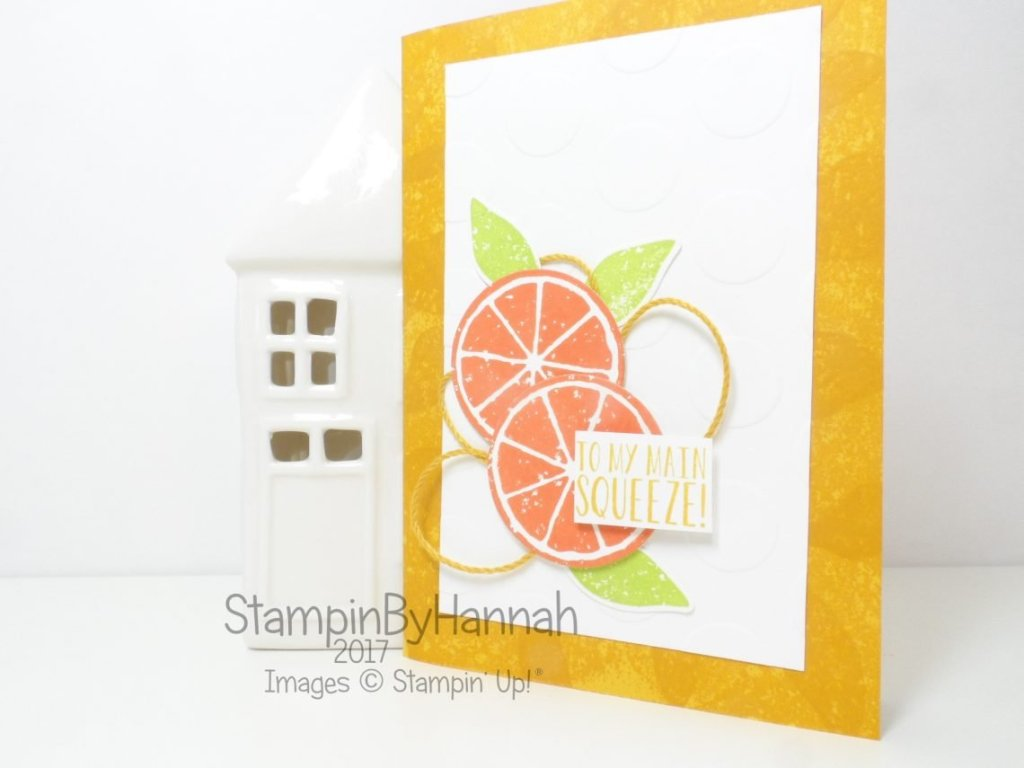 To My Main Squeeze Anniversary card using Lemon Zest from Stampin' Up!