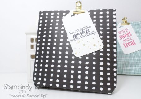Make It Monday Fold Flat Giftbag Tutorial using Pick a Pattern Designer Series Paper from Stampin' Up!
