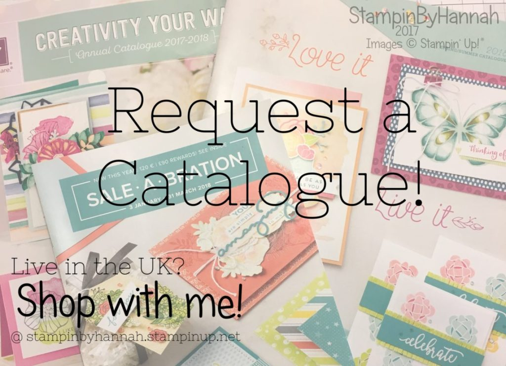 Request a Stampin' Up! Catalgoue