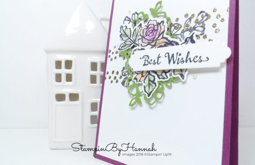 Fun and Floral Best Wishes card using Petal Palette from Stampin' Up!