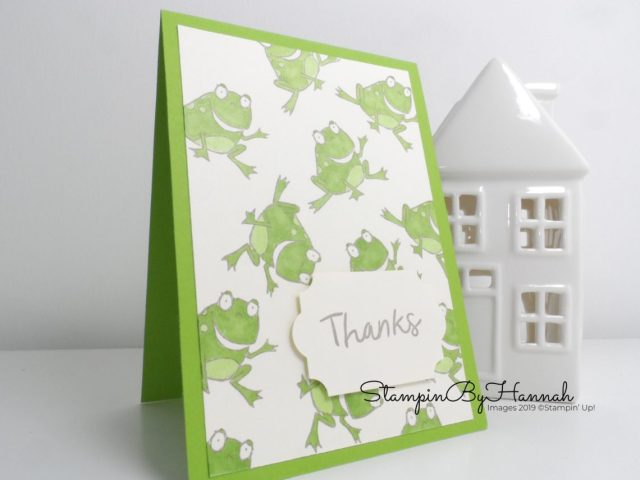 Stampin' Up! Customer Thank You cards using So Hoppy Together from Sale-a-bration 2019 with StampinByHannah