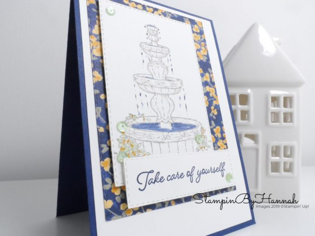 Just Add Ink adding colour to Flowing Fountain from Stampin' Up! with StampinByHannah
