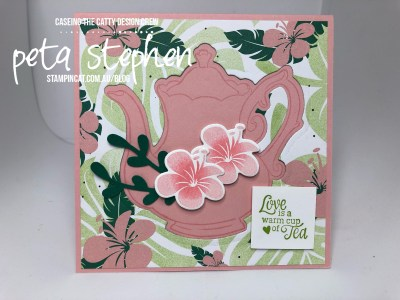 Stampin' Cat CTC216 Tea Time Framelits Tropical Chic Stampin' Up!