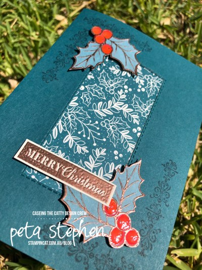 #stampin_cat #ctc256 #brightlygleaming #christmasholly #stampinup