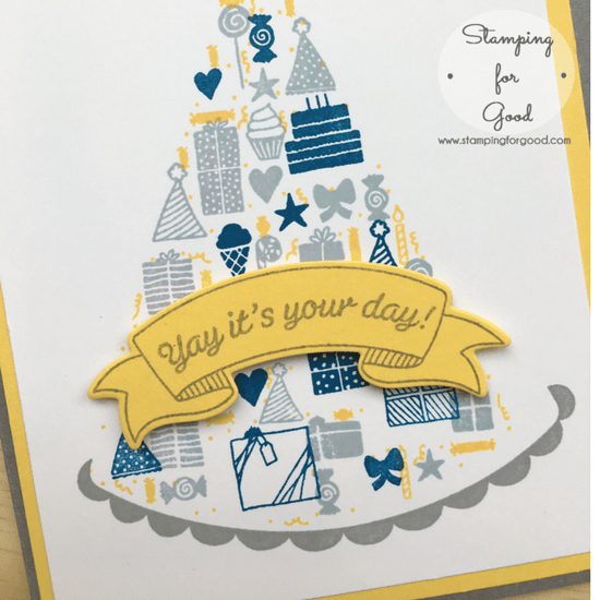 Stamping-for-Good-Stampin-Up-Card-Idea-Party Hat Birthday Boy 2