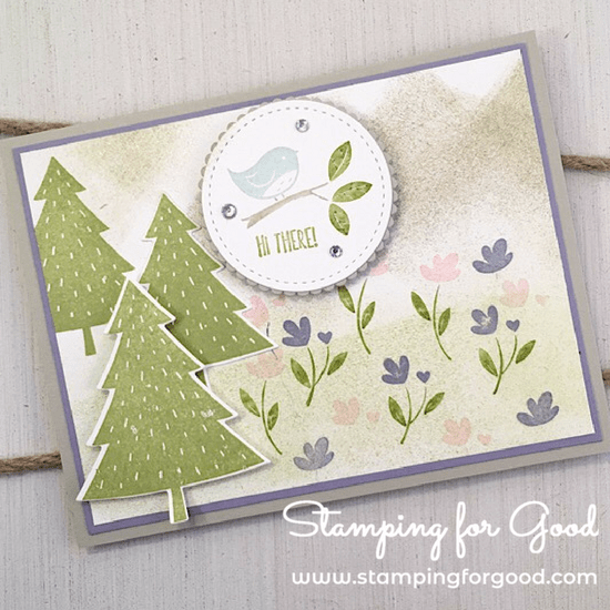 Stamping for Good Stampin Up Card Idea Spring Time Card