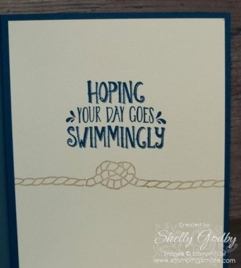 Stampin' Up! Seaside Shore Card Inside