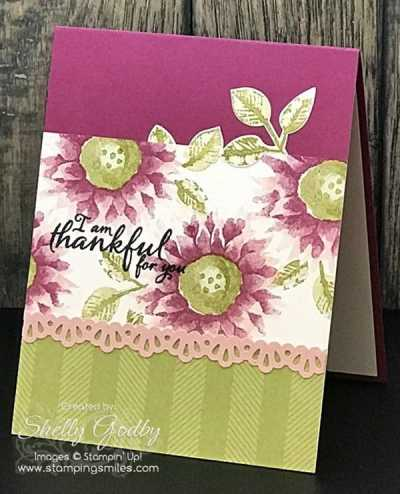 Stampin' Up! Painted Harvest Stamp Set used to make a Stampin' Up! Painted Harvest Card designed by Shelly Godby of www.stampingsmiles.com