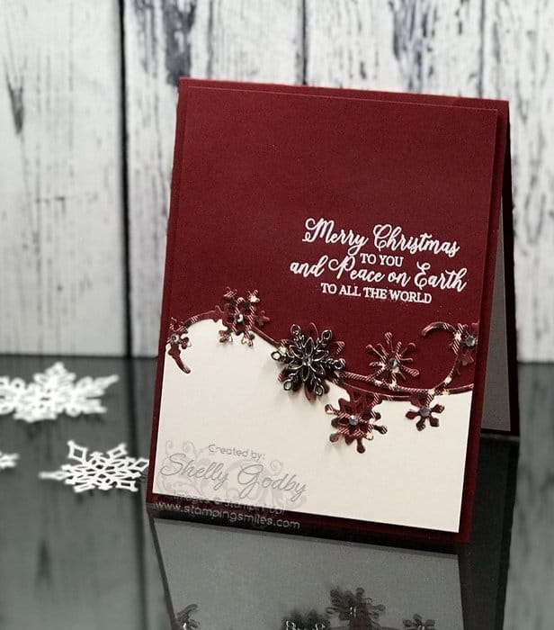 more stampin' up snow is glistening cards with snowflake