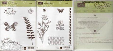 Butterfly Basics Bundle $55 Butterfly Basics Clear Mount Stamp Set & Butterflies Thinlits Dies