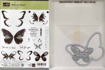 Watercolor Wings Bundle $39 Watercolor Wings Photopolymer Stamp Set and Bold Butterfly Framelits Dies