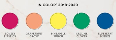 2018-2020 In Color Combinations e-book with 50 unique color combinations