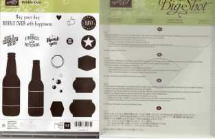 Bubble Over Photopolymer Stamp Set & Bottles & Bubbles Framelits Dies $38