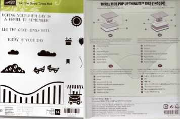Let it Ride Photopolymer Stamp Set & Thrill Ride Pop-Up Thinlits Dies (new) $43