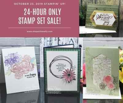 Stampin' Up! 24-Hour Only Stamp Set Sale! Save 15% on select stamp sets October 23, 2019 only!