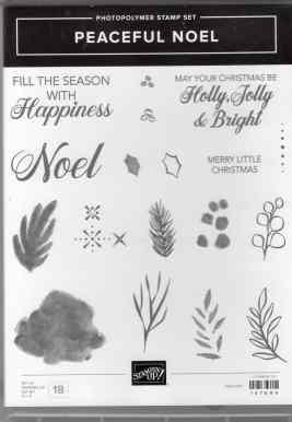 Peaceful Noel Photopolymer Stamp Set $17.00