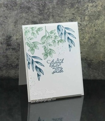Clean and simple card with the Stampin' Up! Forever Fern Stamp Set