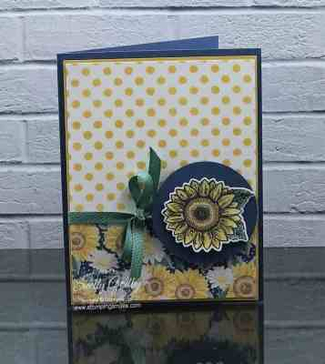 Handmade sunflowers card made with the Stampin' Up! Celebrate Sunflowers Stamp Set