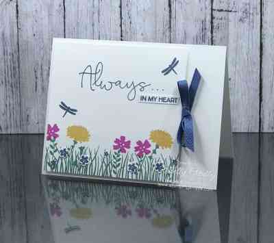 Clean and simple Stampin' Up! Field of Flowers Stamp Set www.stampingsmiles.com