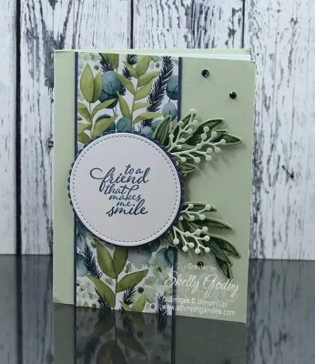 Handmade floral card with the Stampin' Up! Forever Fern Stamp Set