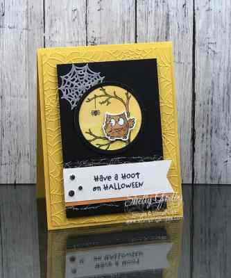 Make adorable Halloween cards with the Stampin' Up! Have a Hoot Stamp Set!