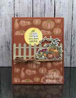 Make realistic fall greeting cards with the Stampin' Up! Autumn Goodness Stamp Set