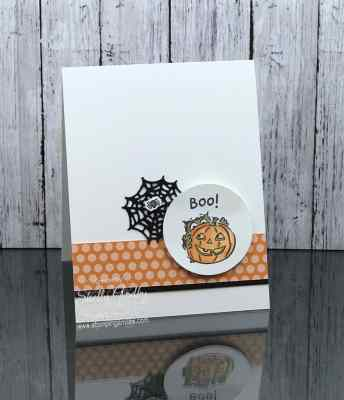 Cute handmade Halloween card idea made with the Stampin' Up! Have a Hoot Stamp Set