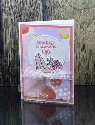 Handmade feminine cards with the Stampin' Up! Dressed to Impress Stamp Set