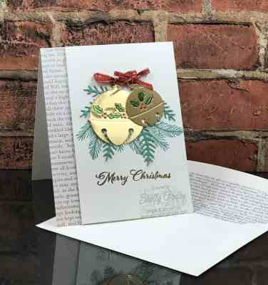 Make stunning Christmas cards with the Stampin' Up! Cherish the Season Stamp Set and Stampin' Up! Sounds of the Season Dies www.stampingsmiles.com
