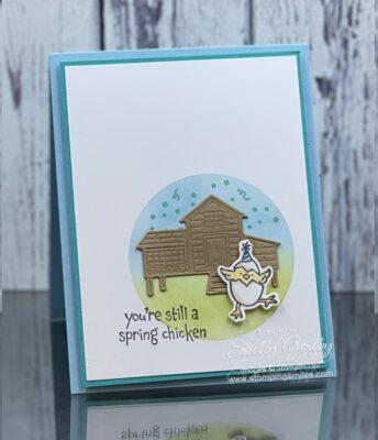 Use the Stampin' Up! Hey Birthday Chick Stamp Set to make my adorable handmade birthday card!