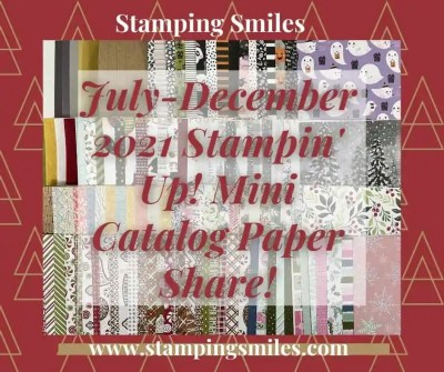 July-December 2021 Stampin' Up! Mini Catalog Paper Share