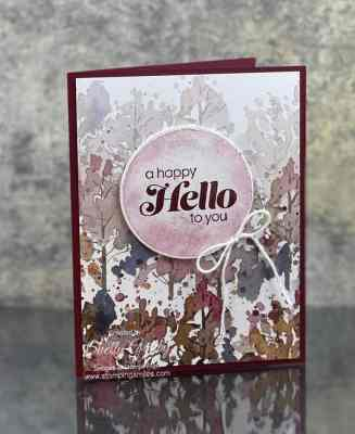 Stampin Up Sunny Sentiments card