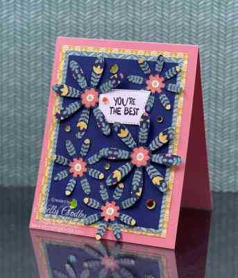 Colorful, fun, and easy handmade cards with the Stampin' Up! Sweet Symmetry Designer Series Paper www.shopwithshelly.com