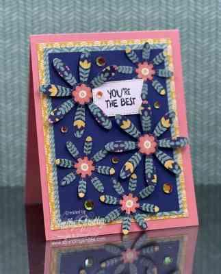 Stampin Up Sweet Symmetry Designer Series Paper Card_Idea